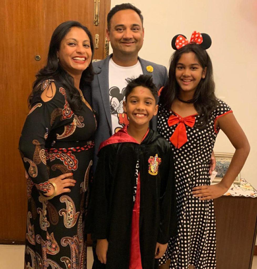 Sanjukta And Family