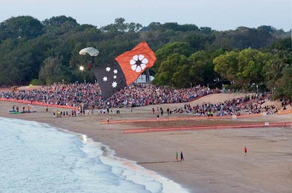 Parachutist Flag Jump
