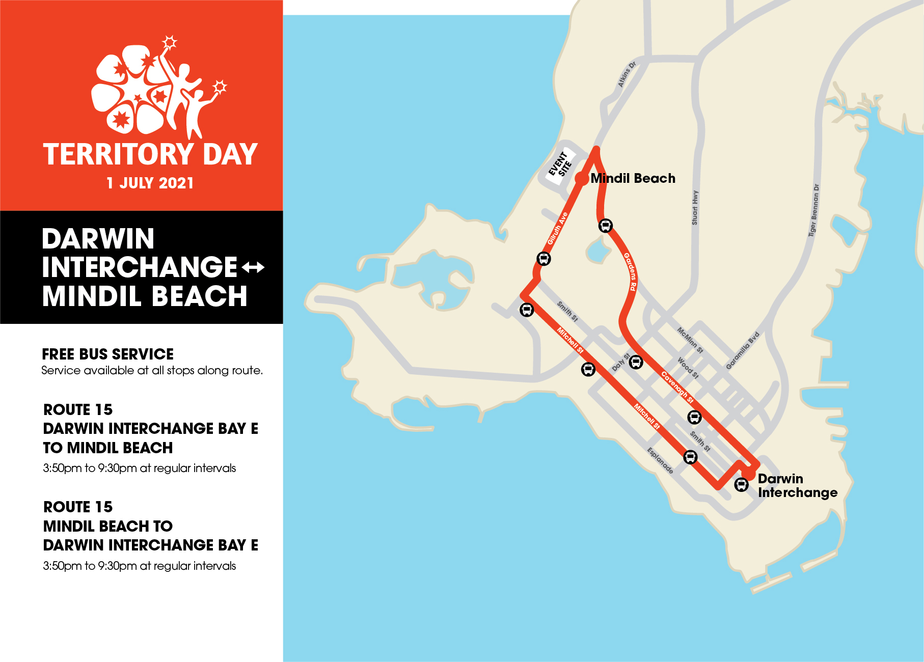 Territory Day Bus Routes Maps 01
