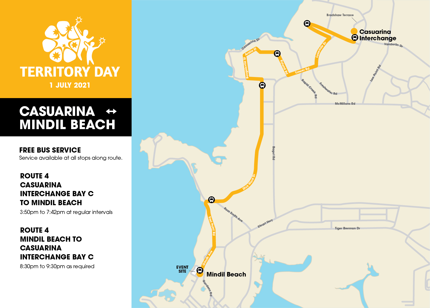 Territory Day Bus Routes Maps 02